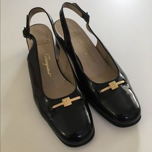 Salvatore Ferragamo wins black heels